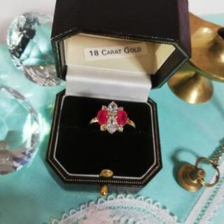 ドバイ王室御用達 アラビアン ルビー&ダイヤモンド リング