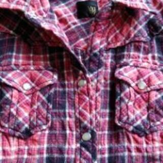 vigny チェックウールシャツ