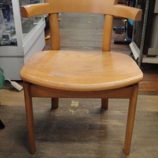 日進木工 セミアームダイニングチェア 板座 天然木 食卓椅…