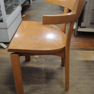 日進木工 セミアームダイニングチェア 板座 天然木 食卓椅子  - 札幌市