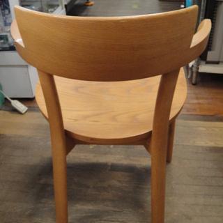 日進木工 セミアームダイニングチェア 板座 天然木 食卓椅子  - 家具