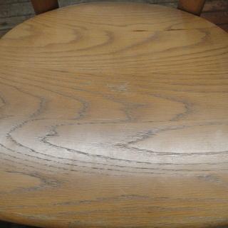 日進木工 セミアームダイニングチェア 板座 天然木 食卓椅子  − 北海道