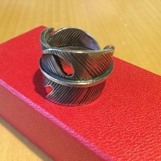 ユニセックスシルバーリング  フリーサイズ 調節可能指輪