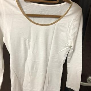 ロングTシャツ 長袖 白 綿100