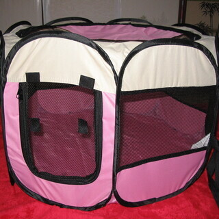 ペット用八角形サークル ピンク色