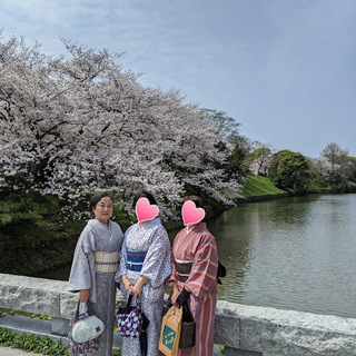 生徒さんとのお出かけ会、桜のお花見に行ってきました。