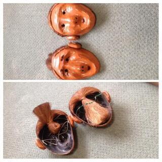 4/10で排除します!二個セットお面飾り   アンティーク   DIY