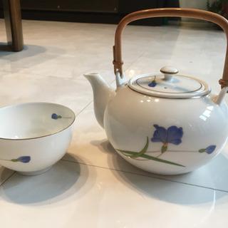 第一陶器 翔山 青い花 煎茶碗揃 10客  |湯飲み|湯呑み|茶器|