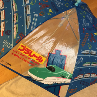 トミカプラレール 子供用傘 45cm 3-6歳くらい 雨具 男の子向け