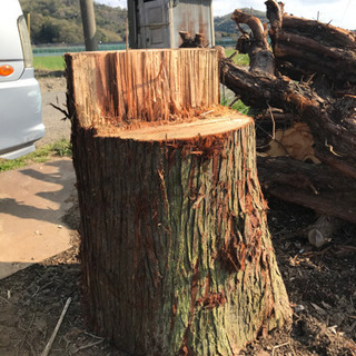 薪割り台 杉 クヌギ