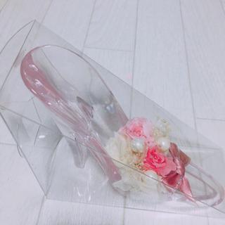 ガラスの靴のプリザーブドフラワー&アクセサリースタンド - 鹿児島市