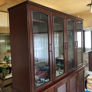 食器棚 両面開き 大きなサイズ