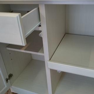 お洒落な ニトリ(NITORI)キッチンレンジボード 食器棚 収納棚 ホワイト - 家具