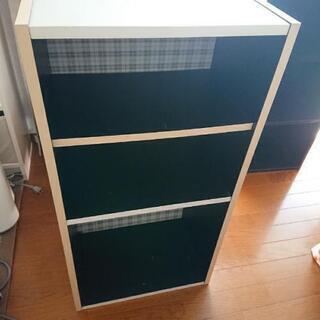 3段ボックス   白
