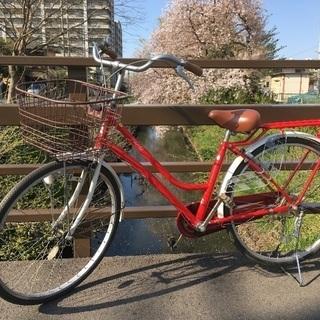 (chariyoshy 出品)美品26インチ 自転車 赤色