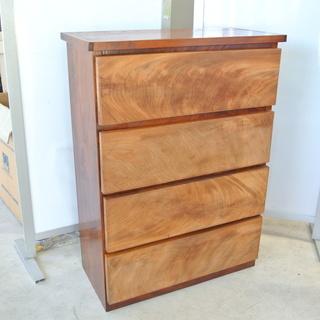 無垢 一枚板 4段 木製箪笥 たんす タンス
