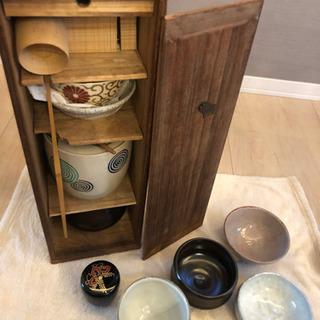 【薄茶、濃茶も対応の茶道具 セット】 茶道セット持ち運び収納入れ...