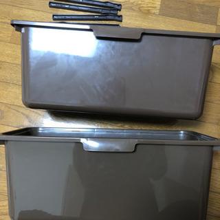 ニトリ カラーボックス用 収納ボックス レール ワイド