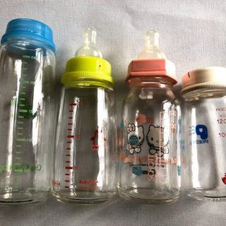 哺乳瓶スリムタイプ ガラス製