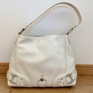 【美品】Hanaa-fu 天然皮革 白バッグ