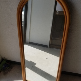 ■【引取限定】鏡 ミラー 壁掛け 立て掛け 化粧鏡 衣装鏡 95...
