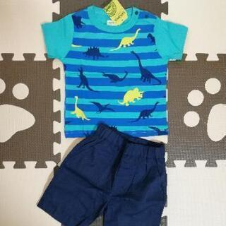 新品 マザウェイズ 半袖Tシャツ パンツ セットアップ 恐竜 83