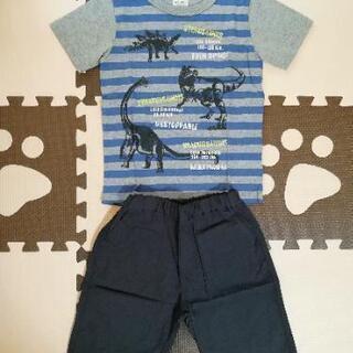 新品 マザウェイズ 半袖Tシャツ パンツ セットアップ 恐竜 120
