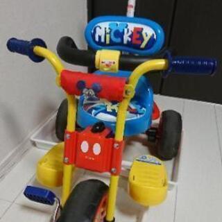 ミッキーマウス三輪車  手押し棒付き