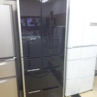 激安!!ガラストップ大型冷蔵庫!!大人気のブラウン入荷!565L...