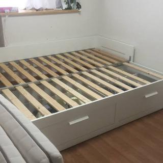 IKEA BRIMNES ベット、ソファ、収納。