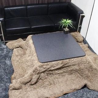 【ネット決済・配送可】モコモコのこたつ布団 74cmのこたつで使用
