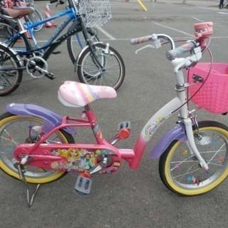 自転車 16インチ ピンク ディズニープリンセス アイデス…
