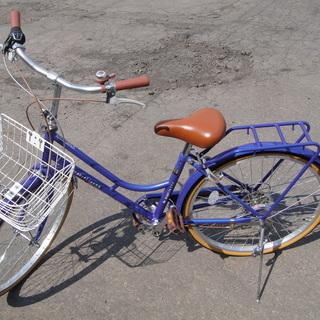 美品 24インチ 自転車 シティサイクル ママチャリ ブル…