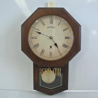 アンティーク CITIZEN 掛け時計 クオーツ 振り子時計