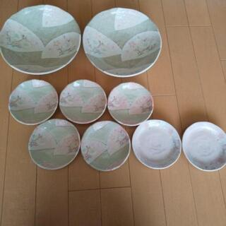 春を先取りー桜柄🌸大深皿2枚子皿5枚セットと柄違い子皿2枚