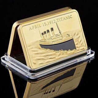 希少 ゴールドの豪華な記念金地金 タイタニック