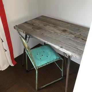 ウッドテーブル&丸椅子 ✔️お取引き決定しました!