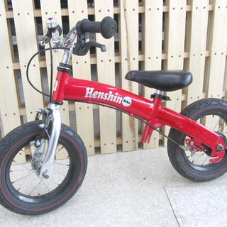 へんしんバイク 12インチ 赤 3歳から バランスバイク 自転車...