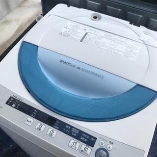 取引中2015年製シャープ全自動洗濯機容量5.5キロ千葉県内配送...