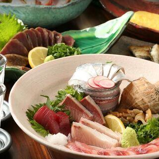 産地直送の新鮮な魚介類を堪能【炉端焼き酒場 一心 大和八木店】