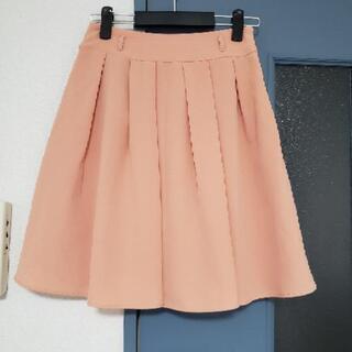 膝丈 サーモンピンク スカート Mサイズ