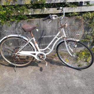 27インチ中古自転車 オートLED 6段変速