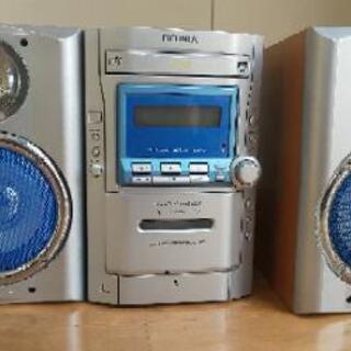あげます ミニコンポ DVD CD テープ FMラジオ