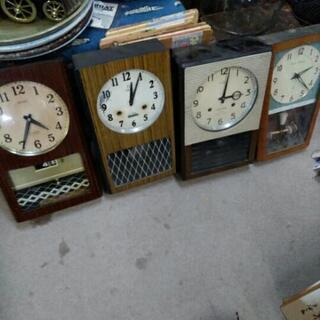 一台1000円 レトロ 振り子時計 柱時計 掛時計