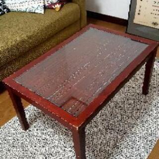 バリ風/アジアン ガラステーブル