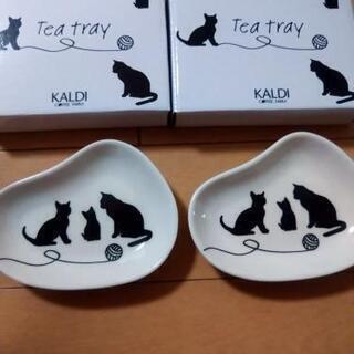 新品未使用 KALDI猫柄 ティートレイ2個