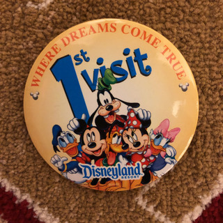 【Disney】Disneyland 1st visit 缶バッジ