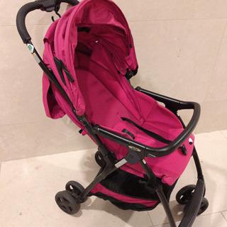 AB型ベビーカー Joie ピンク色 新生児からずっと使える