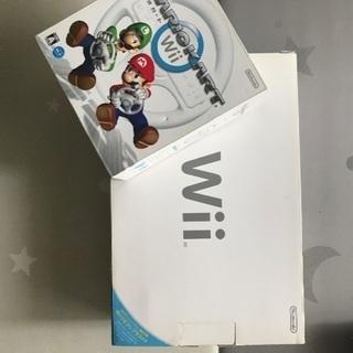 Wii本体及び付属品、ハンドルなどの画像