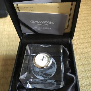 GLASS WORKS NARUMIの置時計